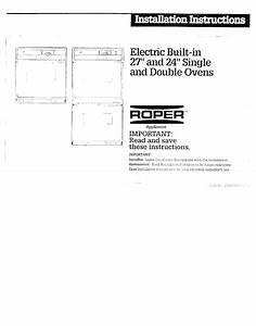Roper Double Oven Installation Instructions Manual Pdf