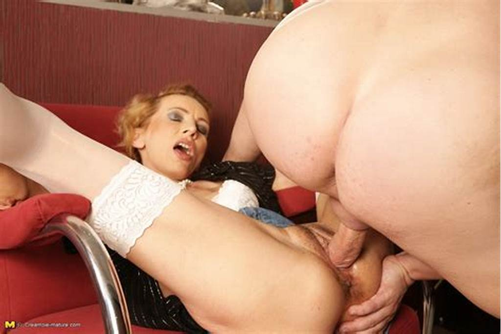 #Sleazy #Mom #In #A #White #Bra #And #Stockings #Boasts #Her #Cum