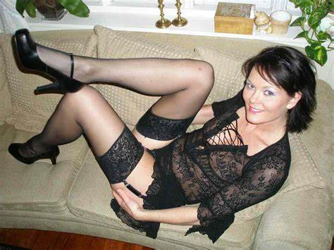 Sweet Bride Wears Sultry Pantyhose As She