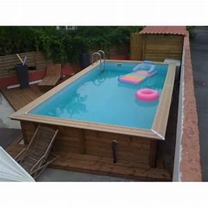 Piscine Bois Pas Cher : piscine bois linea ubbink 3 50 x 6 50m ~ Melissatoandfro.com Idées de Décoration