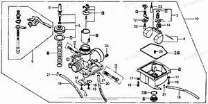 Honda Motorcycle 1976 Oem Parts Diagram For Carburetor
