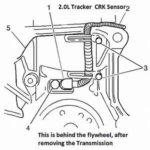 Where Is The Crank Sensor On My 1999 Chevy Tracker 2 0l