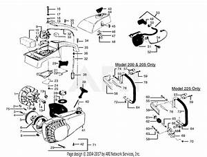 Poulan Pp200 Gas Saw  200 Gas Saw Parts Diagram For Handle  Flywheel  U0026 Fan Housing Assembly