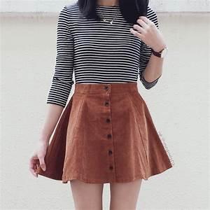 Corduroy Button Up Skirt (Camel) u00b7 Megoosta Fashion u00b7 Free shipping worldwide on all orders