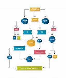 Flow Chart Diagram  Scheme  Stock Vector