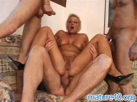 Lovely Granny Double Penetration