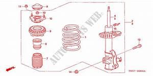 Front Shock Absorber For Honda Cars Civic 2 2 Base 5 Doors