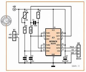Simple Servo Tester Schematic Diagram