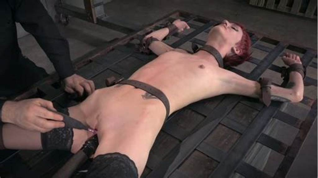 #Redheaded #Hoe #With #Small #Tits #Gets #Her #Pussy #Stretched #Out