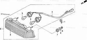 Honda Motorcycle 1991 Oem Parts Diagram For Taillight