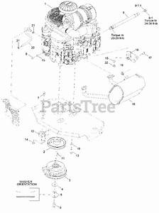 Exmark Parts On The Engine Assembly Diagram For