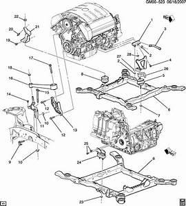 Gm Engine Mount Stud Bolt Flange Double Head M8x1 25x20
