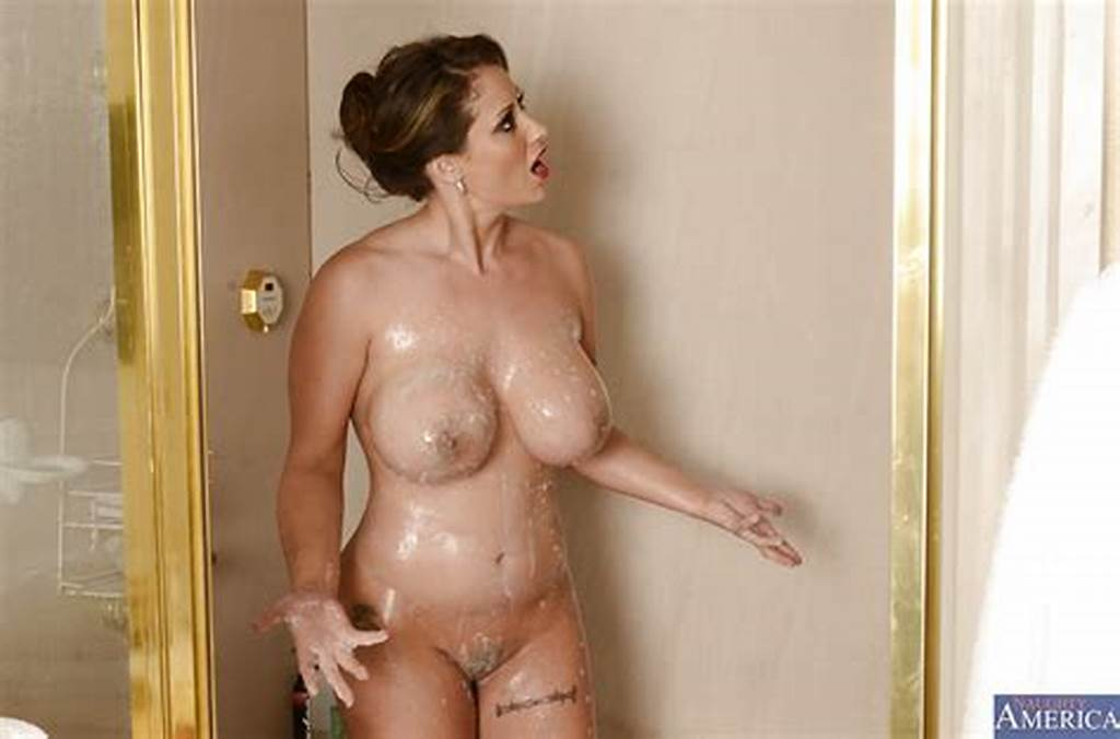 #Ravishing #Milf #With #Big #Tits #Taking #Shower #And #Rubbing #Her