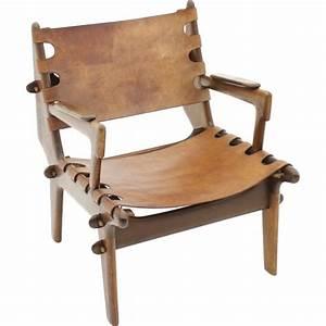 Fauteuil Cuir Et Bois : fauteuil bois et cuir design id es de d coration int rieure french decor ~ Teatrodelosmanantiales.com Idées de Décoration