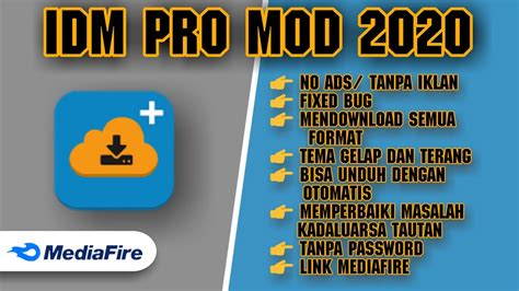1dm+ formerly idm+ is the fastest and most advanced download manager (with torrent download support) available on android. TANPA PASSWORD || APLIKASI IDM PRO MOD 2020 TERBARU || LINK DOWNLOAD MEDIAFIRE - YouTube