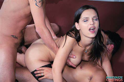 Euro Milf Omelia Double Penetrated In A Threesome