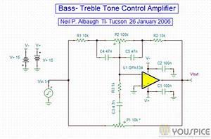 Bass Treble Tone Control Amplifier