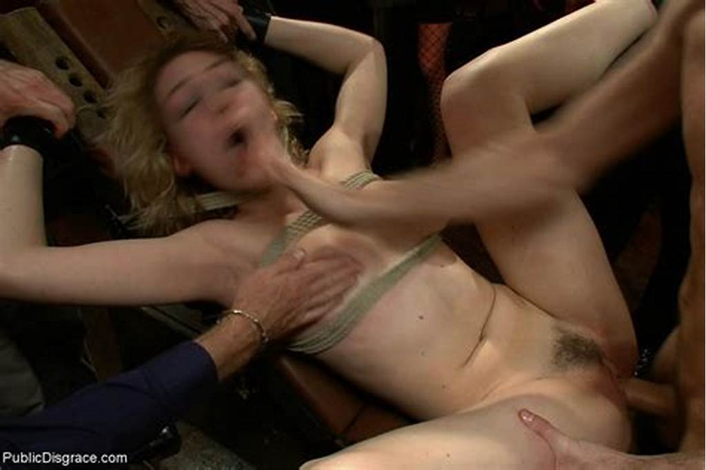 #Sexy #Blonde #Babe #Gets #Tied #And #Fucked #By #Strangers #In