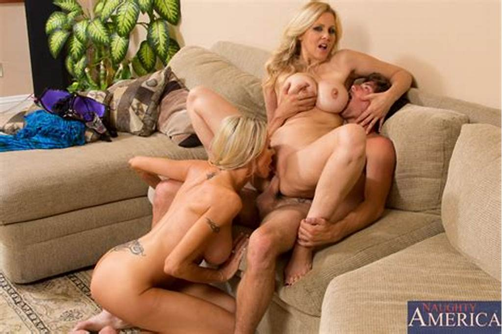 #Threesome #Sex #With #Blonde #Cougars