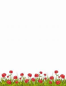 Printable poppy border. Free GIF, JPG, PDF, and PNG ...