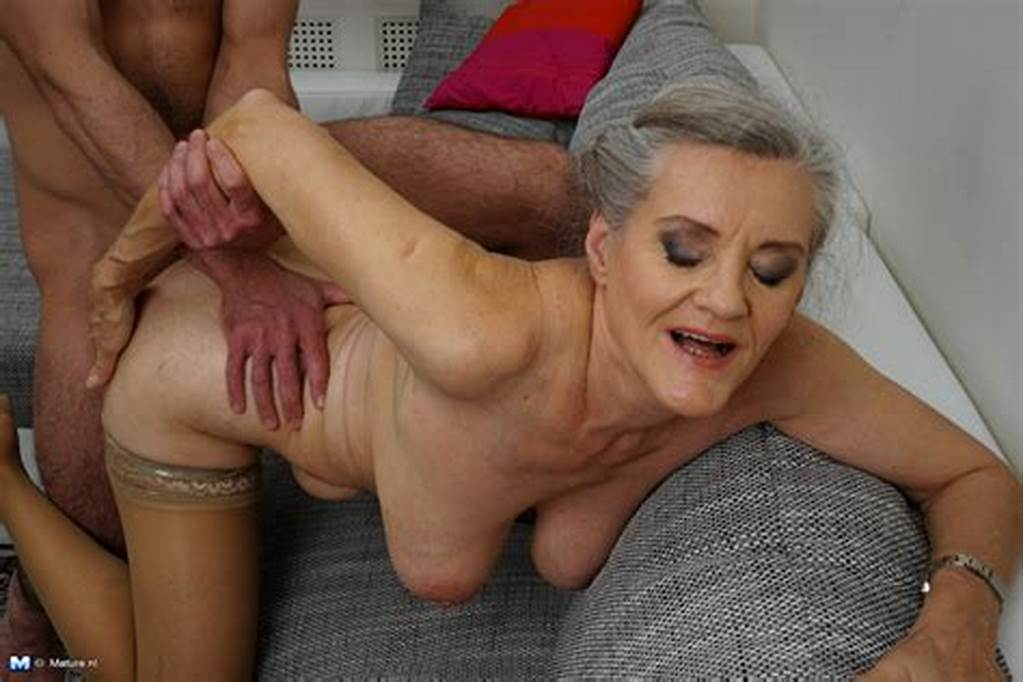 #Grey #Haired #Granny #And #Her #Young #Boy #Toy #Get #Down #To