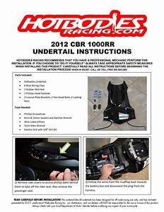 Cbr1000rr 2012-15 Undertail Installation