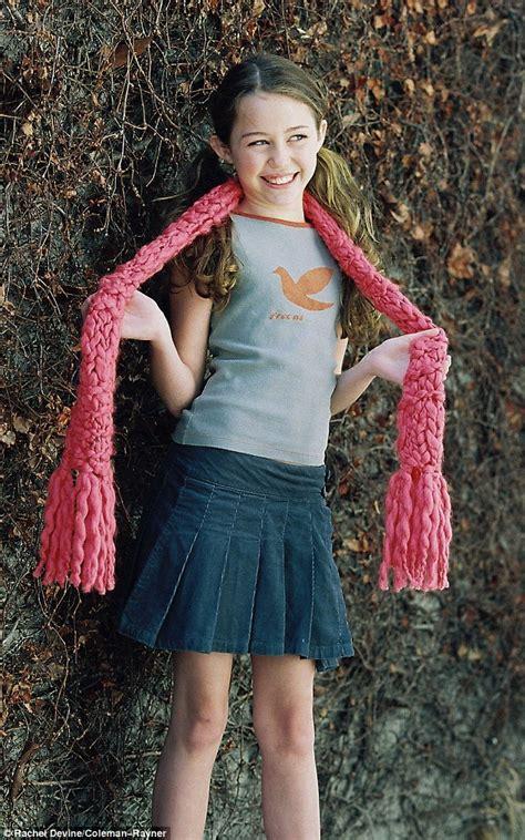 miley cyrus modelling shoot     year  girl