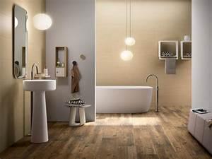 le carrelage imitation bois en 46 photos inspirantes With sol en bois salle de bain