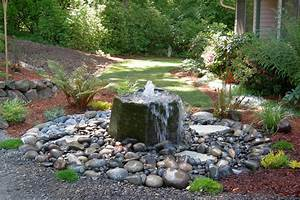 Ideas unique water fountain outdoor fountains for pond for Garden water feature ideas