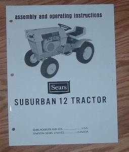 Sears Suburban 12 Hp Tractor 917 25520 Owners Manual