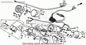 Honda Vt700c Shadow 1984 Usa Speedometer    Tachometer