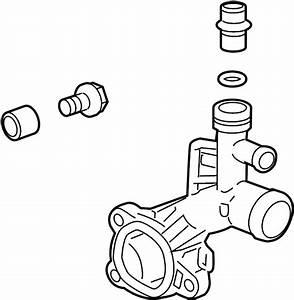 Chevrolet Cruze Engine Coolant Outlet Flange  1 4 Liter