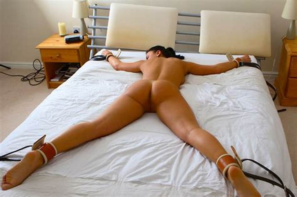 #Tied #Up #Wife #Spread #Eagle #On #Bed #Lingerie #Free #Sex.