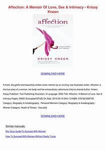 Affection A Memoir Of Love Sex Intimacy Kriss By Micaela