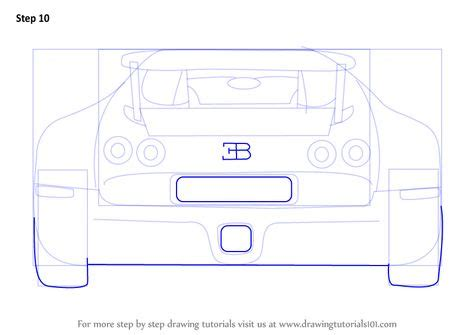 Standard printable step by step. Learn How to Draw a Bugatti Veyron Rear (Sports Cars) Step by Step : Drawing Tutorials   Bugatti ...