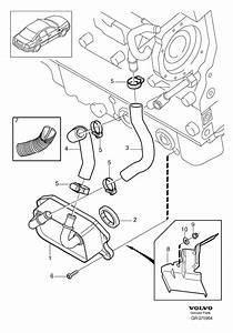 Volvo S80 Engine Oil Cooler Line  Inlet Hose