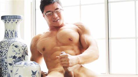 Sultry Hunk Jerks Off Tough Schlong