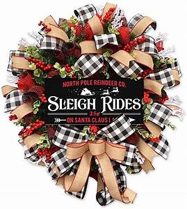 Amazon, Com, North, Pole, Reindeer, Co, Sleigh, Rides, Christmas, Holiday, Wreath, Winter, Design, Front