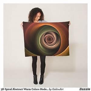 3d, Spiral, Abstract, Warm, Colors, Modern, Fractal, Art, Fleece