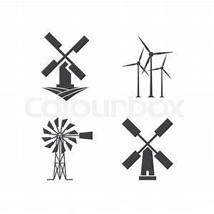 Illustration Of Windmill Logo Design