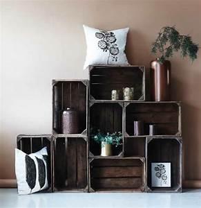 cagette en bois les recycler et detourner en meuble deco With marvelous fabriquer un meuble d entree 0 fabriquer un meuble de rangement pour une entree