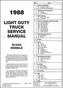 1988 Chevrolet Astro Van Repair Shop Manual Original