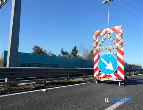 Pescara, incidente stradale sull'asse attrezzato: Asse attrezzato, previste chiusure al traffico: ecco ...