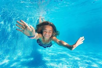 Preteen Pool Fun Diving Portrait Bikini Outdoor