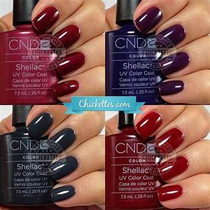 Cnd Vinylux Color Chart 2015 Cnd Shellac Swatches Winter Colors Shellac Nail Colors