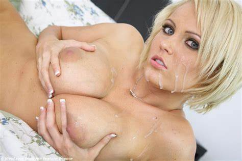 Fellatio Creamed Blonde Models Wallpaper Pigtail Boobs, Breasts, Creamed, Cum, Jizz On