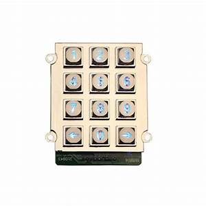 3x4 Layout Zinc Alloy Keypad With Led Backlit For Access