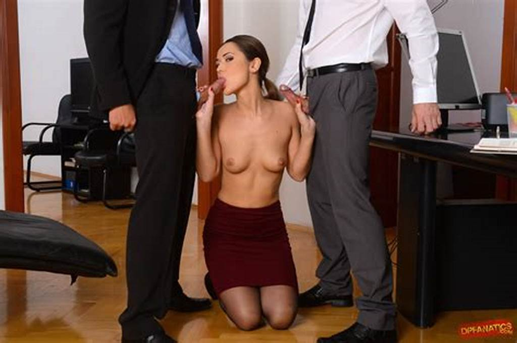 #Shaved #Secretary #Angie #Moon #In #Office #Enjoying #Double