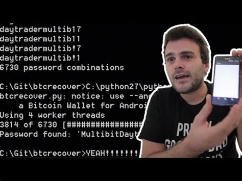 The current brute force has a bitcoin client passphrase limitation: Brute-force your Bitcoin wallet - Install python2.7 for ...