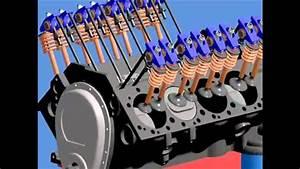 Motor Chevrolet V8 Animacion 3d